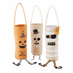 Halloween Dangle Leg Wine Bottle Bags by Mud Pie - Choice of Style