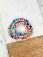 Disc Stretch Bracelet Stack - Multi