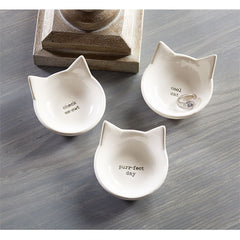 Petite Cat Trinket Bowl by Mud Pie