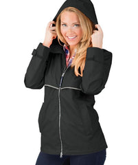 New Englander Rain Jacket in Black by Charles River Apparel (1-2 Week Processing Time)