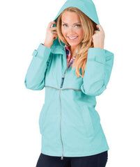 New Englander Rain Jacket by Charles River Apparel (1-2 Week Production Time) - Aqua