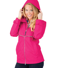 New Englander Rain Jacket in Hot Pink by Charles River Apparel (1-2 Week Processing Time)
