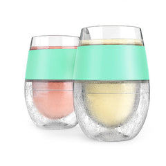 Wine FREEZE™ Cooling Stemless Wine Glasses in Mint (set of 2) by HOST®