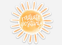 'Radiate Positivity' Sticker