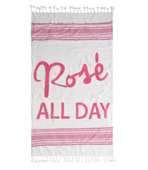 rose all day beach blanket with matching tote by shiraleah