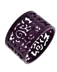Dee Ornate Bangle Bracelet - Purple