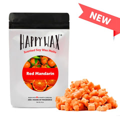 Happy Wax Soy Melts Half Pounder - Red Mandarin