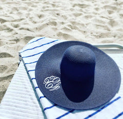 Monogrammed Floppy Hat (1-2 Week Production Time)