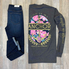 'God is My Anchor' Long Sleeve Tee by Simply Southern