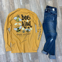 'Bee Kind' Long Sleeve Tee by Simply Southern