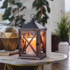 Wooden Candle Warmer Lantern