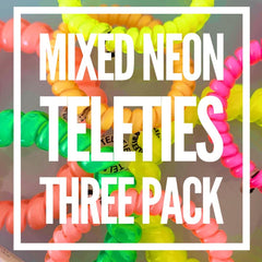 Mixed Neon Teleties 3-Pack - Choice of Size (Ships in 1-2 Weeks)