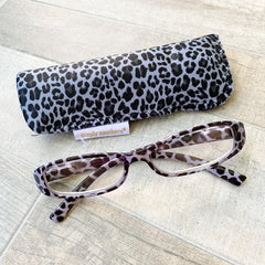 Gray Leopard Reading Glasses by Simply Southern