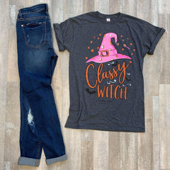 'Classy Witch' Short Sleeve Tee - Country Chick by Simply Southern