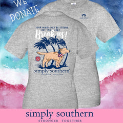 HURRICANE DORIAN RELIEF DONATION TEE: 'Your Winds May Be Strong' Dog Tee by Simply Southern