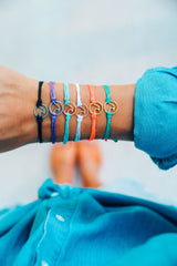 Rose Gold Wave Charm Bracelet by Pura Vida - Choice of Color