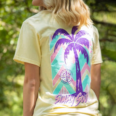 Retro Palm Tree Short Sleeve Tee by Simply Southern