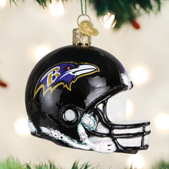 Baltimore Ravens Glass Blown Ornaments - NFL Helmet Collection