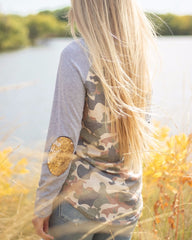 Camo Long Sleeve Raglan by Simply Southern