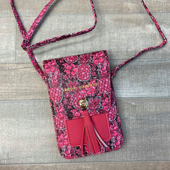 Floral Pineapple Crossbody Phone Satchel by Simply Southern