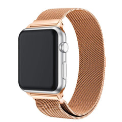 Rose Gold Metal Mesh Smart Watch Band