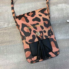 Leopard Crossbody Phone Satchel by Simply Southern