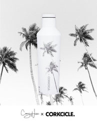 16 oz Stainless Steel Corey Wilson Collection Canteen by Corkcicle - Paradise Palm