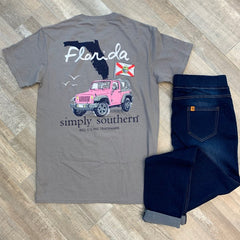 Florida Jeep Short Sleeve Tee by Simply Southern