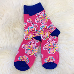 Pink Floral Socks by Simply Southern