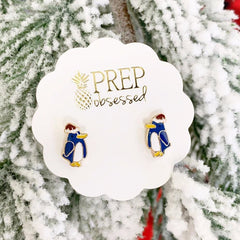Christmas Hat Penguin Signature Enamel Studs