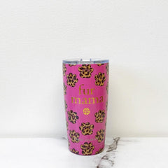 'Fur Mama' Printed Stainless Steel Tumbler by Simply Southern - 20 oz