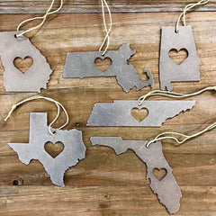 Metal State Ornament - All States Available (Ships in 2 Weeks)