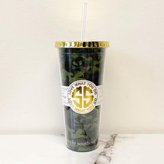 'Camo' Double Wall Tumbler by Simply Southern