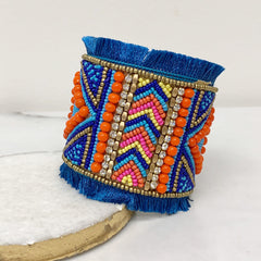 Santamaria Beaded Cuff - Blue