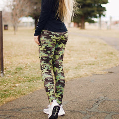 Printed Leggings by SS - Green Camo