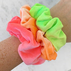 Neon Hair Scrunchie - Choice of Color