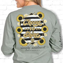 'Choose to Shine' Long Sleeve Tee by Simply Southern