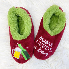 Snoozies! Slippers - Mama Needs A Beer