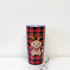 'Puppy' Holiday Stainless Steel Tumbler by Simply Southern - 20 oz