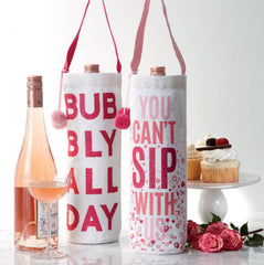 Glitter Bubbly Bottle Bag - Choice of Style