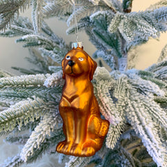 'Yellow Lab' Glass Ornament by PBK