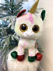 Flippables Stardust the Christmas Unicorn by TY - Large