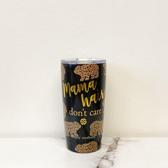 'Mama Hair' Bear Printed Stainless Steel Tumbler by Simply Southern - 20 oz