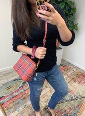 Plaid Satchel by Simply Southern