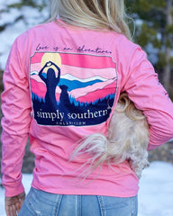 'Love Is An Adventure' Long Sleeve Tee by Simply Southern