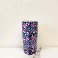 'Pineapple & Floral' Printed Stainless Steel Tumbler by Simply Southern - 20 oz