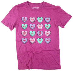 Conversation Hearts Short Sleeve Graphic Tee - PrepO Exclusive