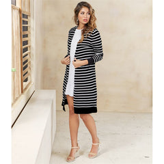 Beau Black Striped Duster by Mud Pie