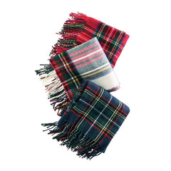 Tartan Scarf Wrap by Mud Pie - Choice of Color