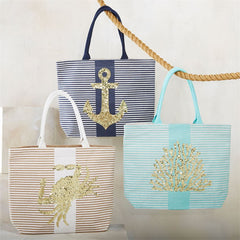 Ocean Dazzle Tote by Mud Pie - Choice of Style
